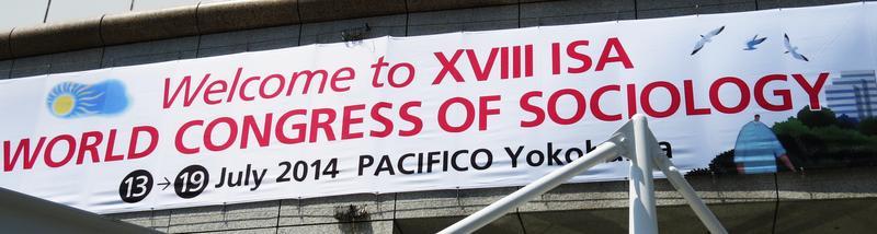 Banner vom Weltkongress für Soziologie Foto: HSZG - A. Hoff