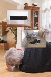 In Sekundenschnelle registriert die Sensorbox die Notsituation und informiert die Alarmeinheit in de ... © Fraunhofer IPA